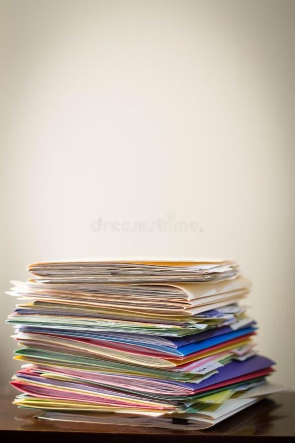 Carpetas de archivos imágenes de archivo libres de regalías