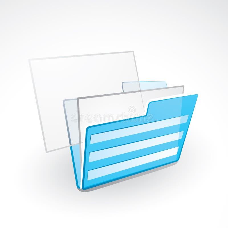 Carpetas de fichero stock de ilustración
