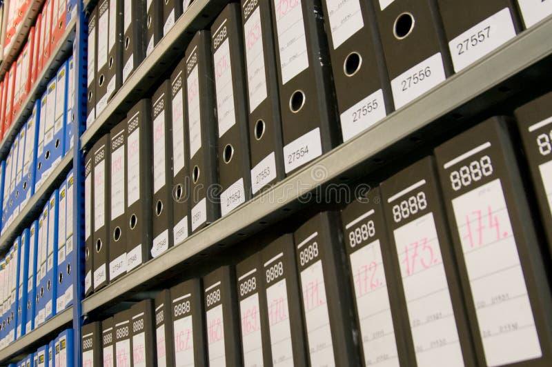 Carpetas de fichero fotografía de archivo libre de regalías