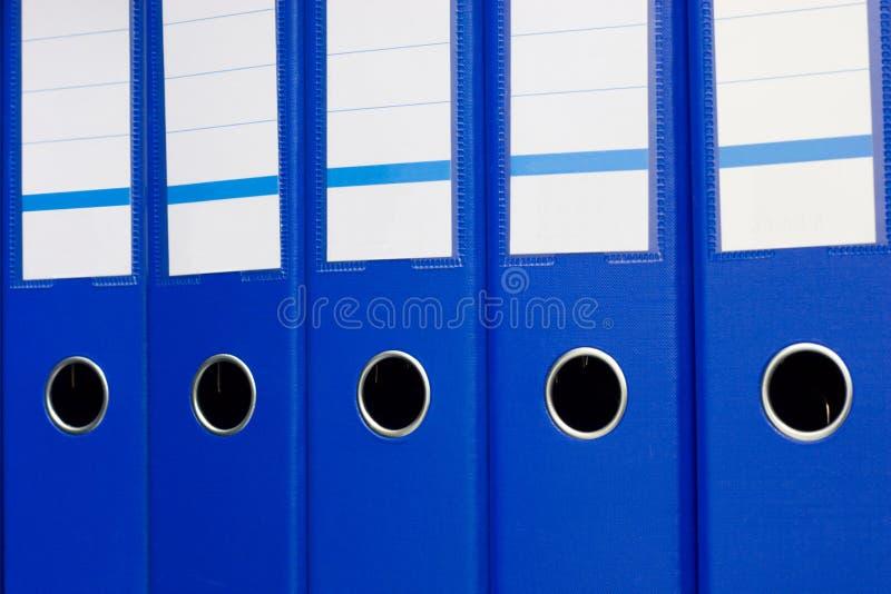 Carpetas de fichero azules imágenes de archivo libres de regalías