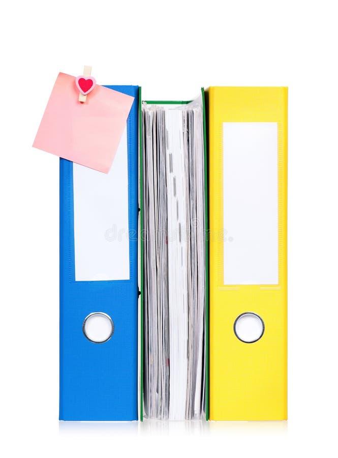 Carpetas de fichero coloridas fotos de archivo libres de regalías