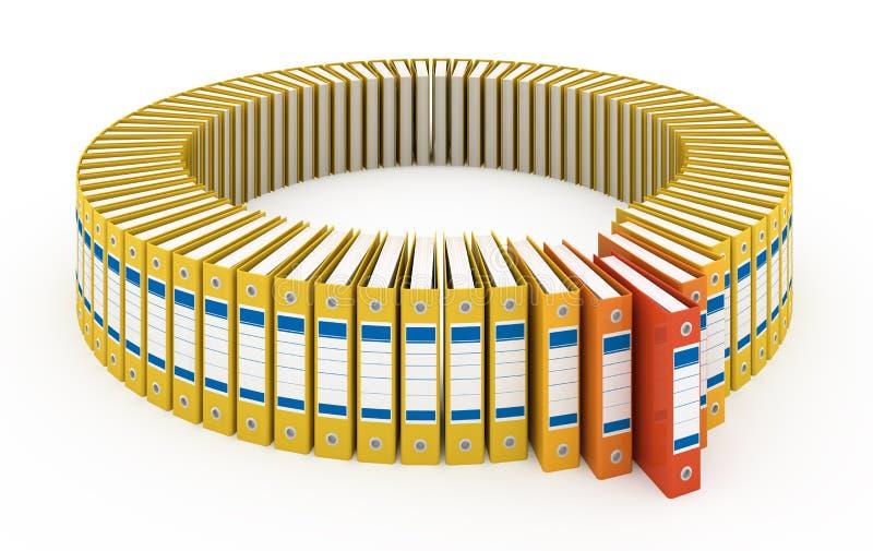 Carpetas de la oficina stock de ilustraci n ilustraci n for Carpetas para oficina