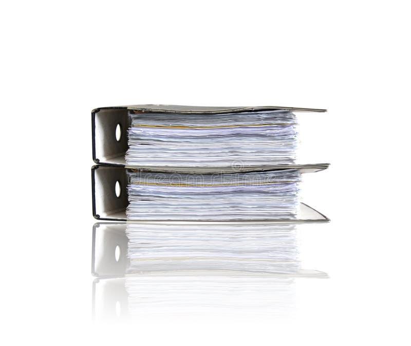 Carpetas en blanco imagen de archivo
