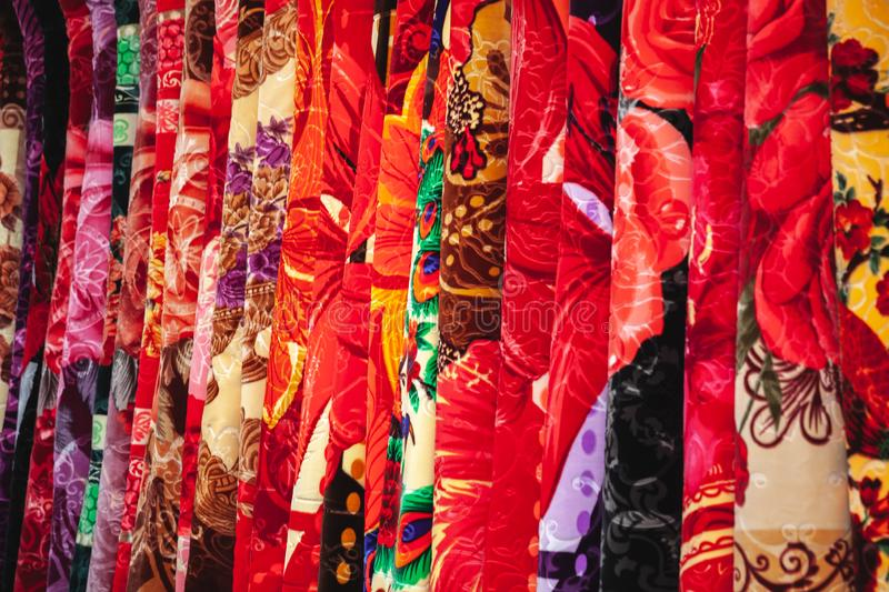 Carpets with colorful ornaments royalty free stock photo