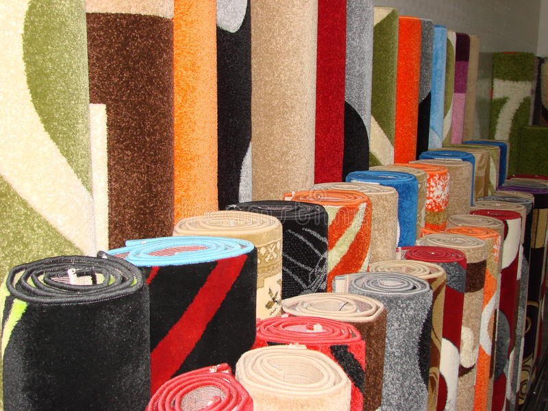 Carpets, Mats stock photo
