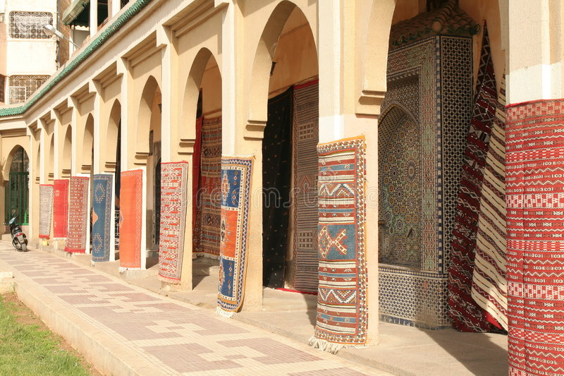 carpets mekness arkivbilder
