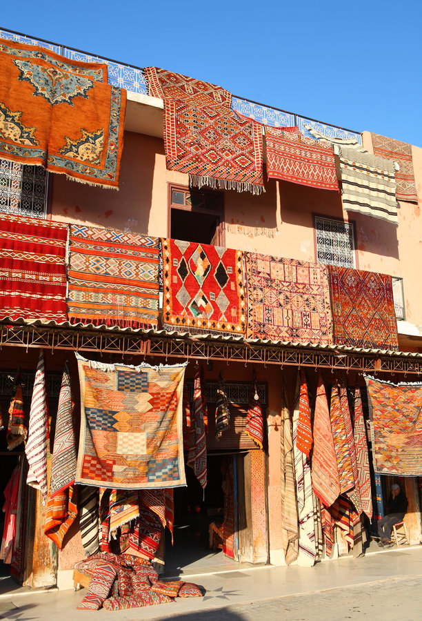 carpets moroccanen arkivbild