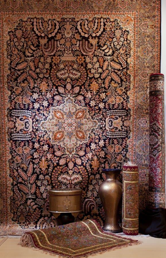 Carpets shop stock photos