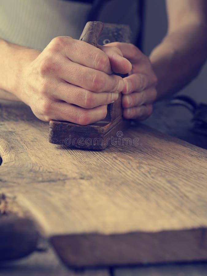 Carpintaria ou conceito de trabalho de madeira imagem de stock