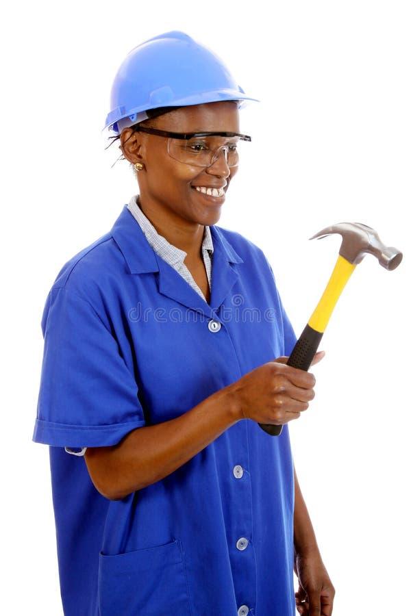 Carpinteiro africano da mulher imagens de stock