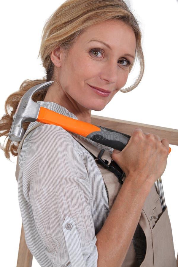 Carpinteiro fêmea foto de stock