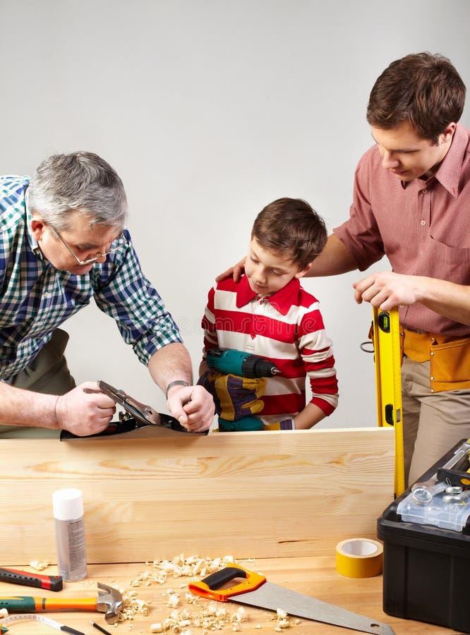 Carpinteiros foto de stock