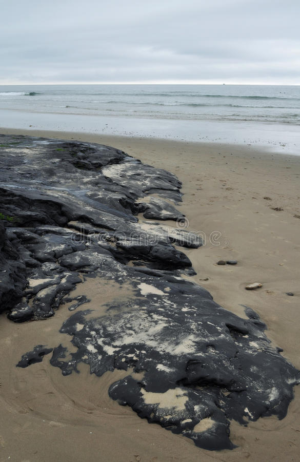 Carpinteria Beach, Tar Pit Park, Central Coast stock photo