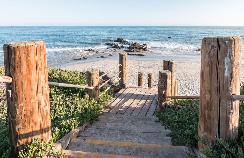 Carpinteria Coast Stairs royalty free stock photography