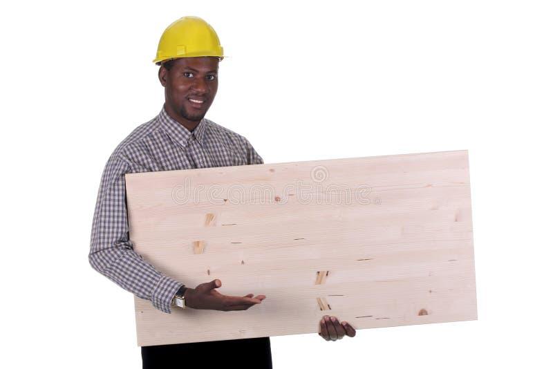 Carpintero joven del afroamericano foto de archivo libre de regalías