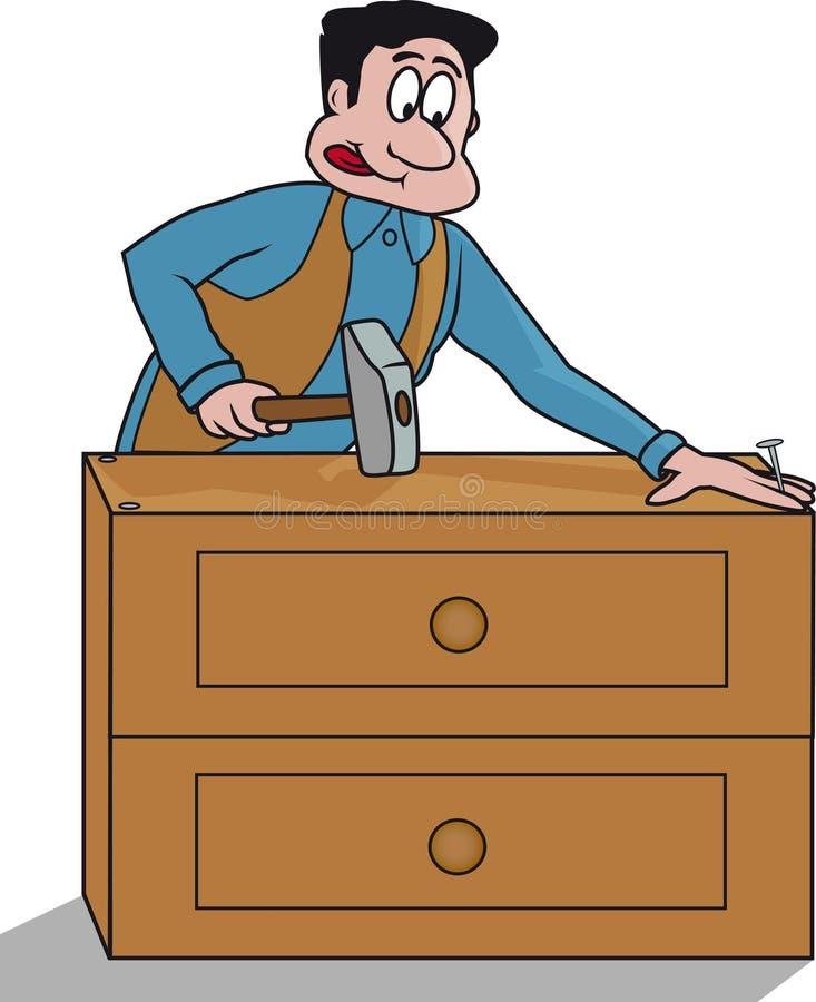 Carpintero para el forniture libre illustration