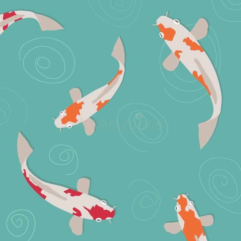 carpkoi stock illustrationer
