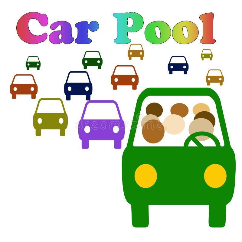 Carpool por favor ilustración del vector