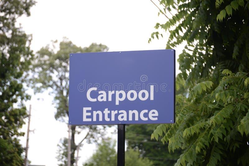 Carpool przejażdżki udzielenie zdjęcia royalty free