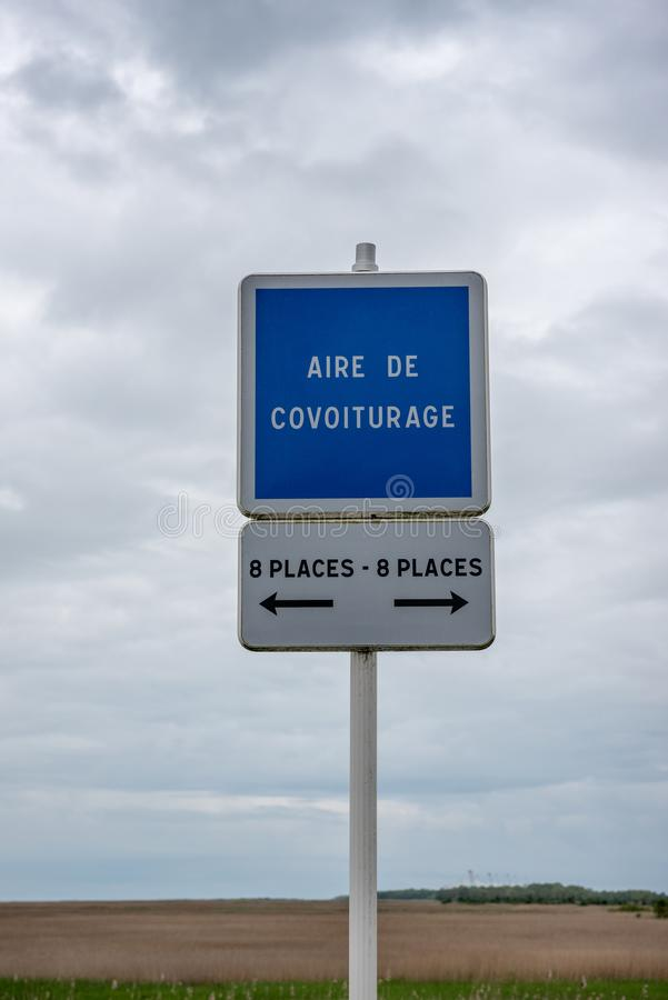 Carpool punktu panel w Francja obrazy royalty free