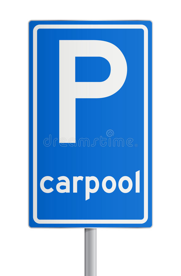 Download Carpool roadsign stock vector. Image of fuel, blue, vector - 26948564