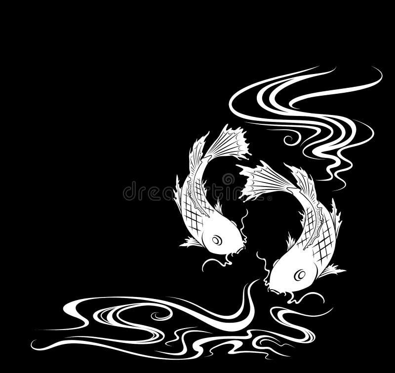 Download Carps stock vector. Illustration of nature, japan, water - 8612149