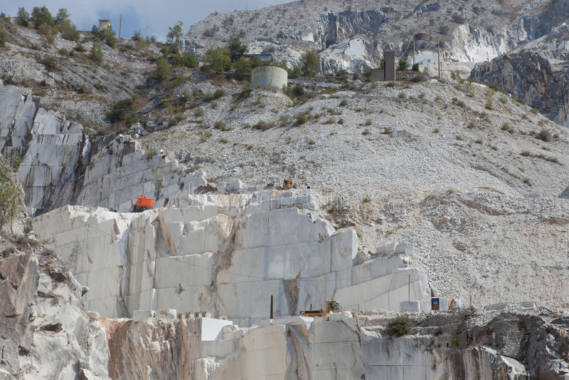 Carrara marble mountains royalty free stock photo