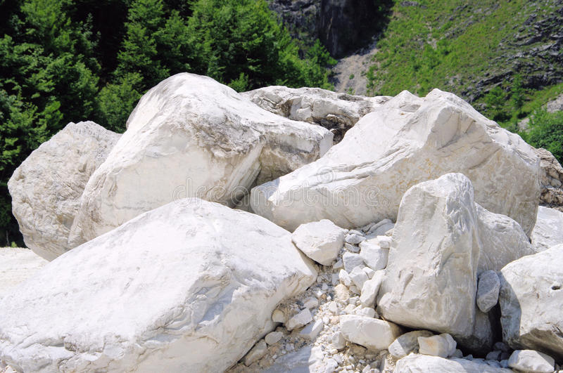 Carrara marble stone pit. Carrara in Italy, marble stone pit royalty free stock images
