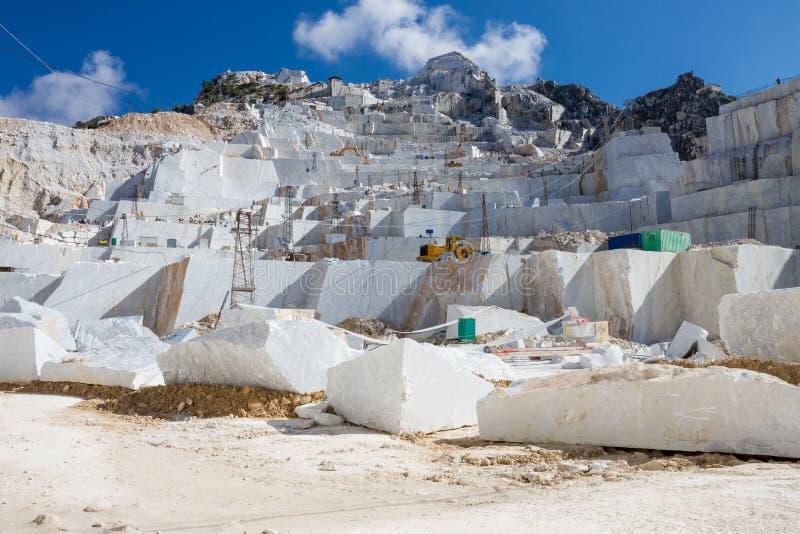 Carrara marmurowy łup w Włochy zdjęcia royalty free