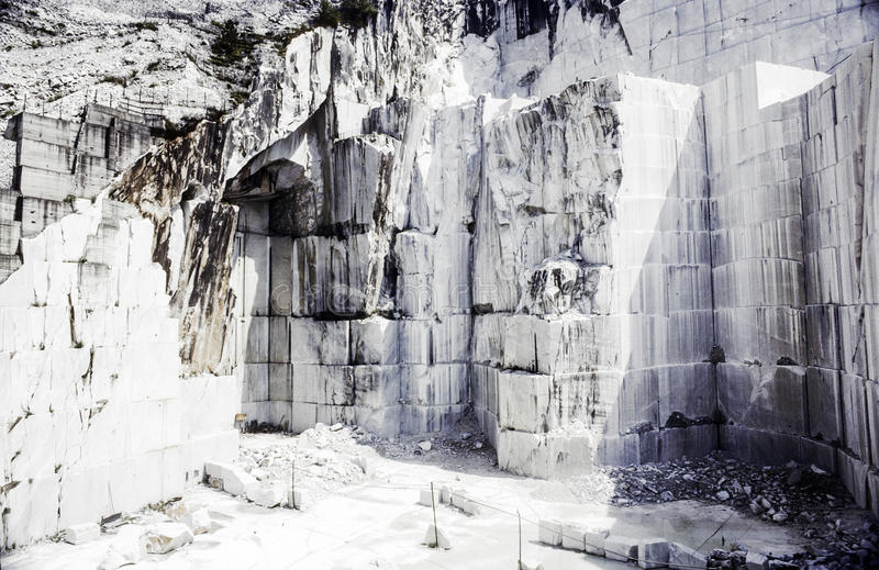 Carraran marble quarry stock images