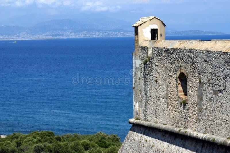 Carre de fort, Antibes, la Côte d'Azur photographie stock libre de droits