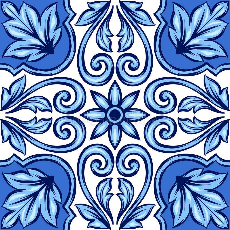 Carreau de céramique d'azulejo portugais illustration stock