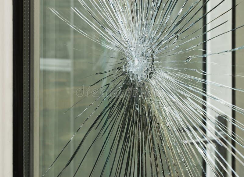 Carreau de vitrail heurté photo stock