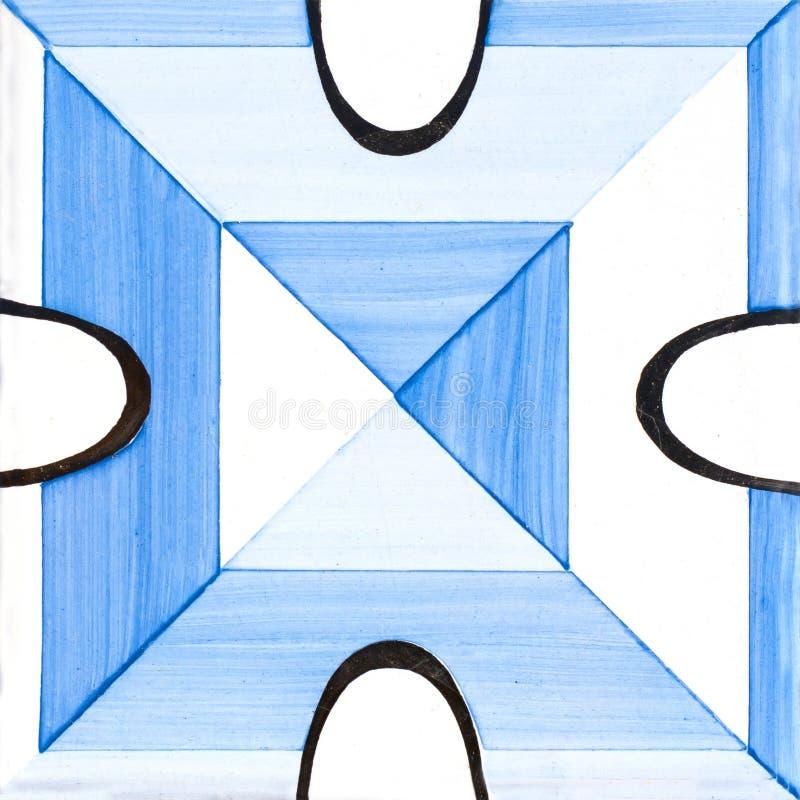 Carreaux de céramique bleus photographie stock libre de droits