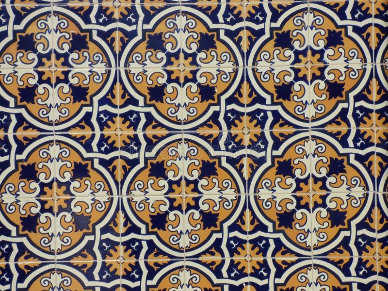Carreaux de céramique portugais traditionnels image libre de droits