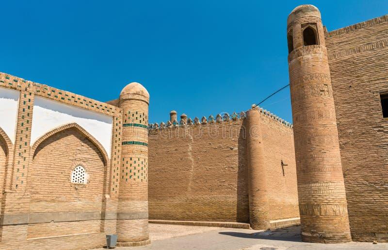 Carrefour à la forteresse d'Itchan Kala au centre historique de Khiva Site de patrimoine mondial de l'UNESCO dans l'Ouzbékistan photographie stock libre de droits