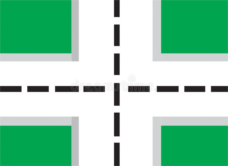 carrefour illustration de vecteur