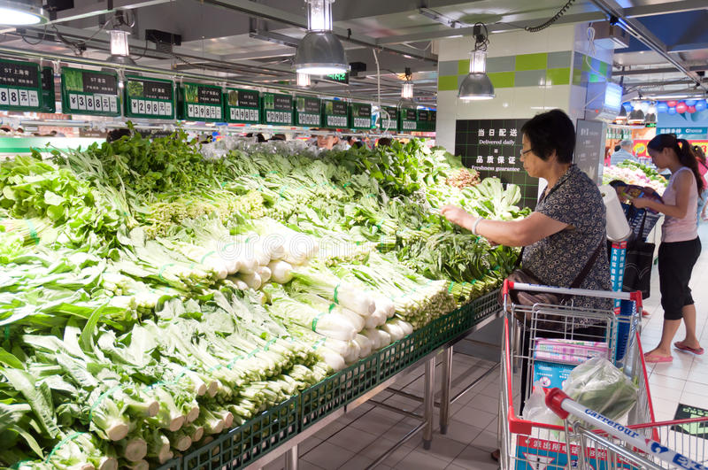 Download Carrefour in China editorial image. Image of male, grocery - 20622585