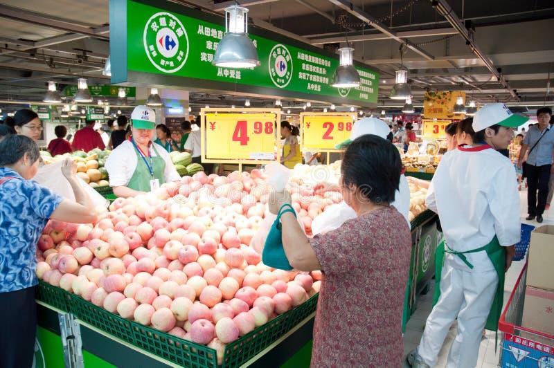 Carrefour en Chine photo libre de droits