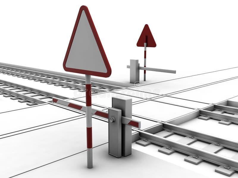 Carrefour ferroviaire fermé illustration de vecteur