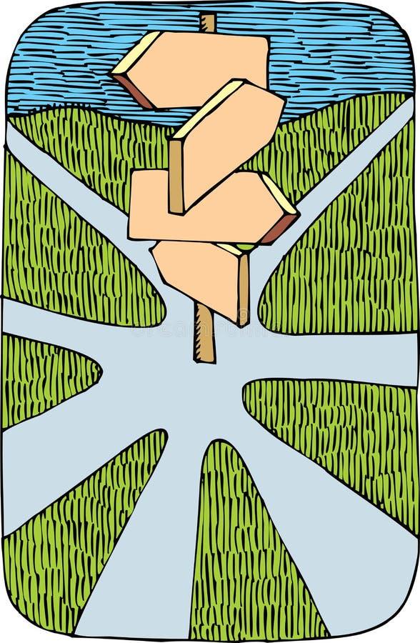Carrefour gentil illustration de vecteur