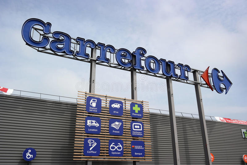 Carrefour Hypermarket stock foto