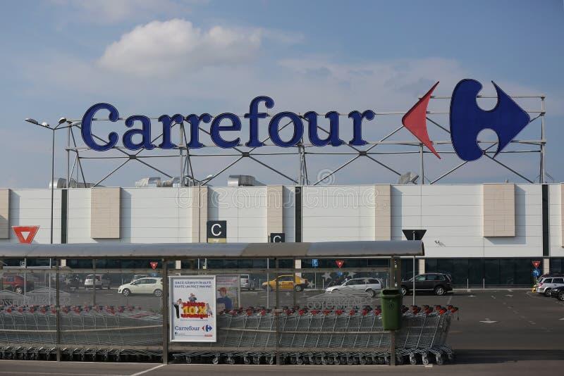 Carrefour supermarkt royalty-vrije stock foto