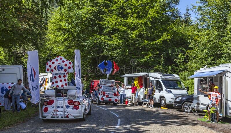 Carrefour Trucks royalty free stock photos