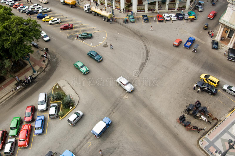 Carrefours de La Havane de ci-avant photos stock