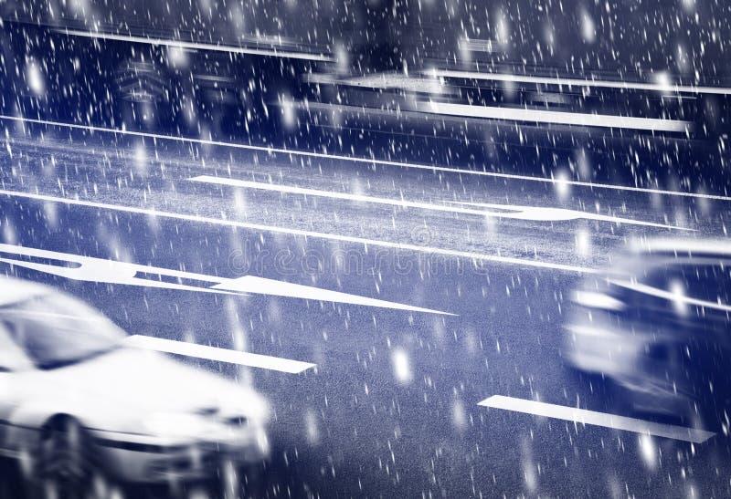 Carrefours pendant l'hiver photographie stock libre de droits