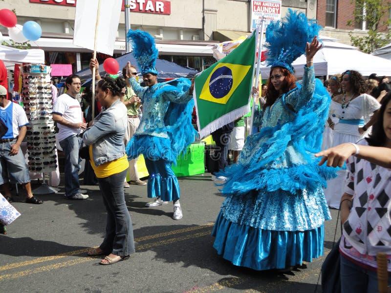 Carreg a bandeira brasileira imagem de stock royalty free