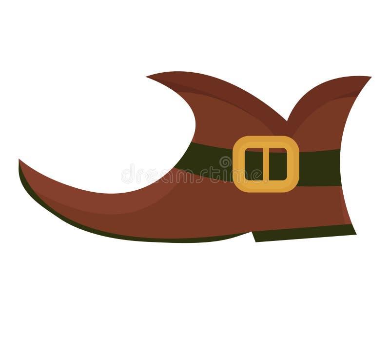 Carreg o duende, estilo liso do ícone Símbolo do dia do ` s de St Patrick Isolado no fundo branco ilustração stock