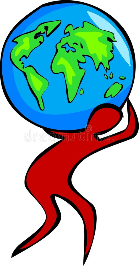 Carreg o mundo ilustração do vetor