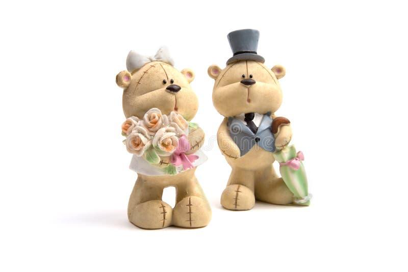Carrega a roupa do casamento fotografia de stock